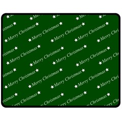 Merry Christmas,text,green Fleece Blanket (Medium)
