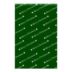 Merry Christmas,text,green Shower Curtain 48  X 72  (small)