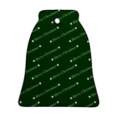 Merry Christmas,text,green Bell Ornament (2 Sides)