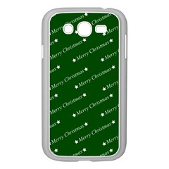 Merry Christmas,text,green Samsung Galaxy Grand Duos I9082 Case (white)