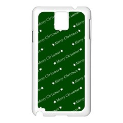 Merry Christmas,text,green Samsung Galaxy Note 3 N9005 Case (white)