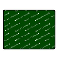 Merry Christmas,text,green Double Sided Fleece Blanket (Small)