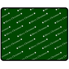 Merry Christmas,text,green Double Sided Fleece Blanket (Medium)