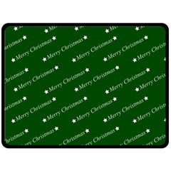 Merry Christmas,text,green Double Sided Fleece Blanket (Large)