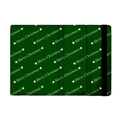 Merry Christmas,text,green Ipad Mini 2 Flip Cases