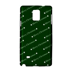 Merry Christmas,text,green Samsung Galaxy Note 4 Hardshell Case