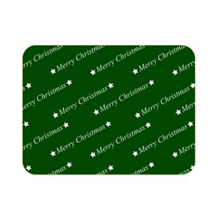 Merry Christmas,text,green Double Sided Flano Blanket (mini)