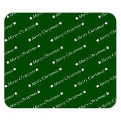 Merry Christmas,text,green Double Sided Flano Blanket (Small)