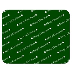 Merry Christmas,text,green Double Sided Flano Blanket (Medium)