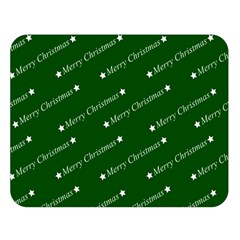 Merry Christmas,text,green Double Sided Flano Blanket (large)