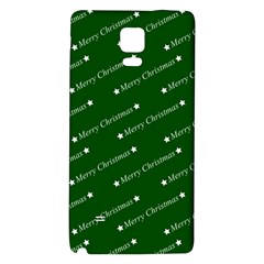 Merry Christmas,text,green Galaxy Note 4 Back Case