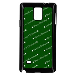 Merry Christmas,text,green Samsung Galaxy Note 4 Case (black)
