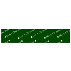Merry Christmas,text,green Flano Scarf (Small)