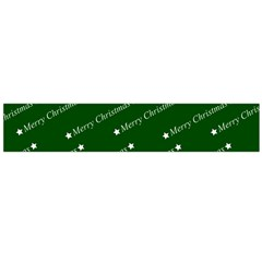 Merry Christmas,text,green Flano Scarf (Large)