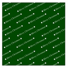 Merry Christmas,text,green Large Satin Scarf (Square)