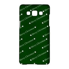 Merry Christmas,text,green Samsung Galaxy A5 Hardshell Case