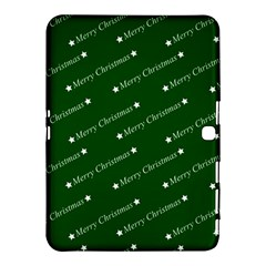 Merry Christmas,text,green Samsung Galaxy Tab 4 (10 1 ) Hardshell Case