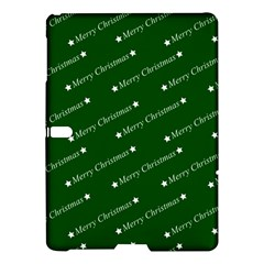 Merry Christmas,text,green Samsung Galaxy Tab S (10.5 ) Hardshell Case