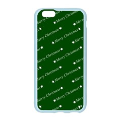 Merry Christmas,text,green Apple Seamless iPhone 6 Case (Color)