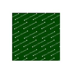 Merry Christmas,text,green Satin Bandana Scarf