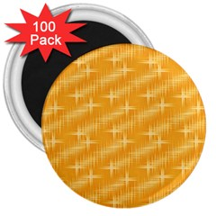 Many Stars, Golden 3  Magnets (100 Pack)