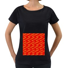 Many Stars,red Women s Loose-Fit T-Shirt (Black)