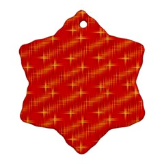 Many Stars,red Snowflake Ornament (2-Side)