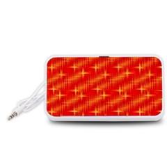 Many Stars,red Portable Speaker (White)