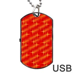 Many Stars,red Dog Tag USB Flash (Two Sides)