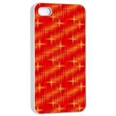 Many Stars,red Apple iPhone 4/4s Seamless Case (White)