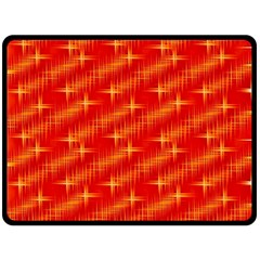 Many Stars,red Double Sided Fleece Blanket (Large)