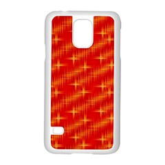 Many Stars,red Samsung Galaxy S5 Case (white)