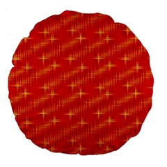 Many Stars,red Large 18  Premium Flano Round Cushions