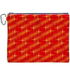 Many Stars,red Canvas Cosmetic Bag (XXXL)