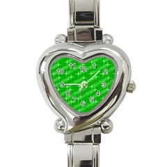 Many Stars, Neon Green Heart Italian Charm Watch