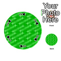 Many Stars, Neon Green Playing Cards 54 (round)