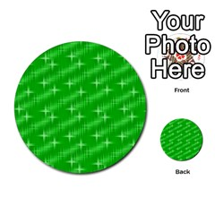 Many Stars, Neon Green Multi Purpose Cards (round)