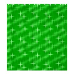 Many Stars, Neon Green Shower Curtain 66  x 72  (Large)