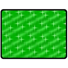 Many Stars, Neon Green Fleece Blanket (large)