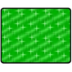 Many Stars, Neon Green Fleece Blanket (Medium)
