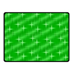 Many Stars, Neon Green Fleece Blanket (small)