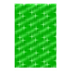 Many Stars, Neon Green Shower Curtain 48  x 72  (Small)
