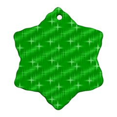 Many Stars, Neon Green Ornament (Snowflake)