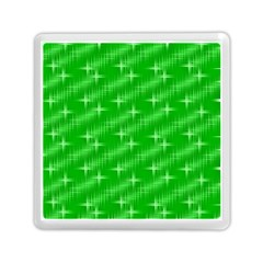 Many Stars, Neon Green Memory Card Reader (Square)