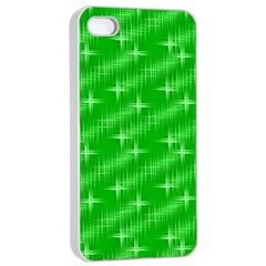 Many Stars, Neon Green Apple iPhone 4/4s Seamless Case (White)