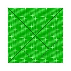 Many Stars, Neon Green Acrylic Tangram Puzzle (6  x 6 )