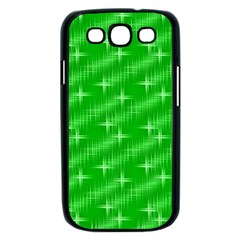 Many Stars, Neon Green Samsung Galaxy S III Case (Black)