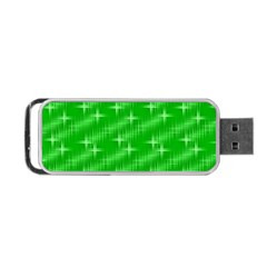 Many Stars, Neon Green Portable Usb Flash (one Side)
