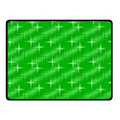 Many Stars, Neon Green Double Sided Fleece Blanket (Small)