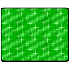 Many Stars, Neon Green Double Sided Fleece Blanket (medium)